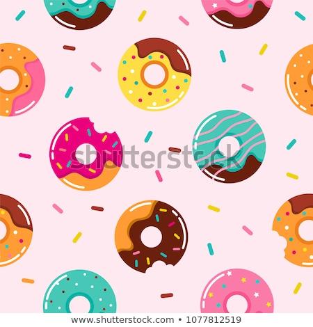 Bonbons doodle fond rétro Photo stock © zsooofija