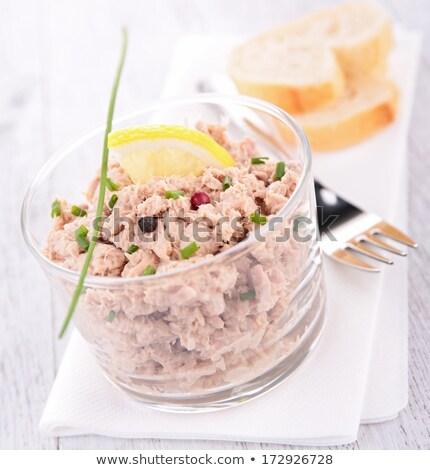 Tonijn room vis brood diner salade Stockfoto © M-studio