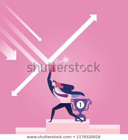 Stockfoto: Zakenman · groeiend · grafiek · eps10 · vector · formaat
