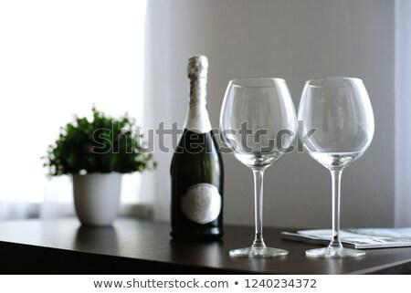 シャンパン · 眼鏡 · 氷 · バケット · 白 · 幸せ - ストックフォト © karandaev
