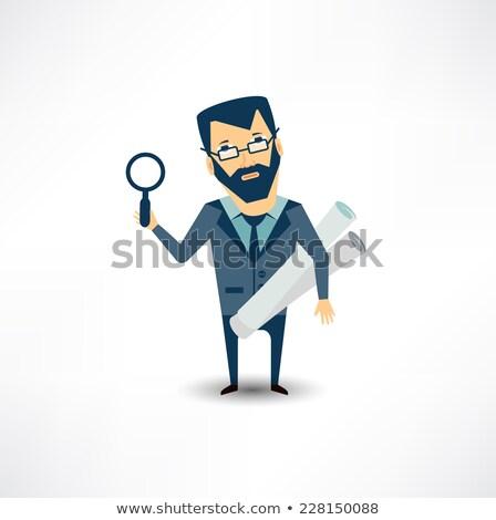 project management through magnifying glass stock photo © tashatuvango