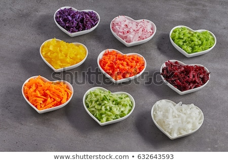 Stock photo: Fresh finely diced red onion