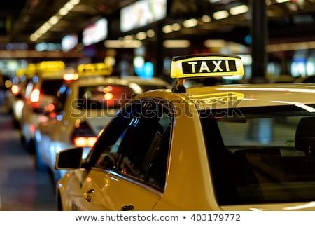 такси дороги улице синий автобус Сток-фото © gemenacom