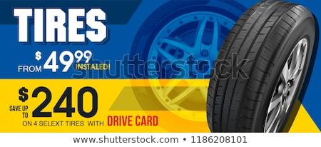 Sportautó hirdetés terv autó sziluett üzlet Stock fotó © vipervxw