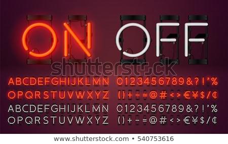 Alphabet and Punctuation Signs in Digital Style. Stock photo © tashatuvango