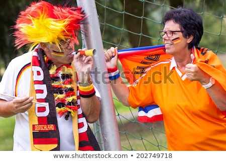 German couple supporting their national team Stock photo © photography33