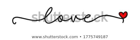 assinar · amor · carta · coração · casamento · feliz - foto stock © timurock