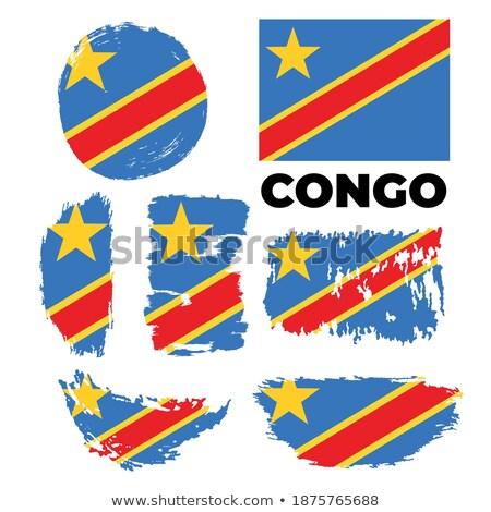 Harita bayrak düğme cumhuriyet Kongo vektör Stok fotoğraf © Istanbul2009
