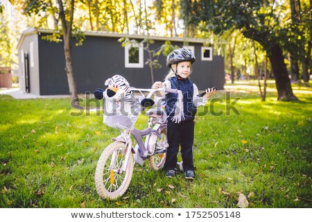 Basket of a childrens bicycle in autumn Stock photo © Arrxxx
