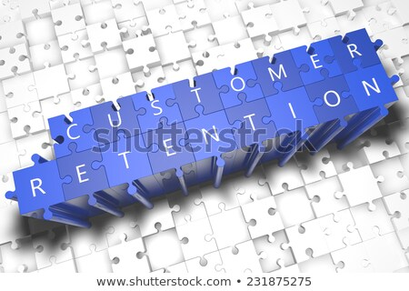 Customer Retention Strategy Texts on Puzzle Pieces Stock photo © tashatuvango