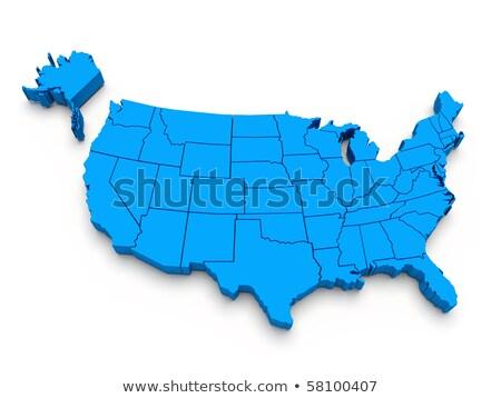 Montana harita mavi ABD görüntü render Stok fotoğraf © tang90246