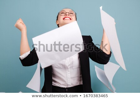 business people throwing up papers stock photo © hasloo