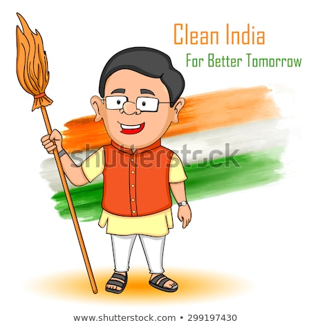 Indian people wishing Happy Independence Day of India Stock photo © vectomart