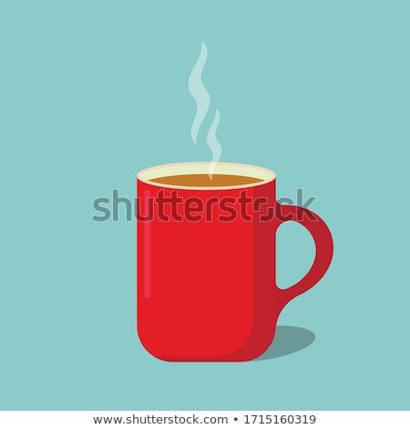 Koffiemok coffeeshop voorraad foto kantoor kamer Stockfoto © punsayaporn