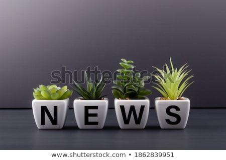 noticias · extra · mano · periódico - foto stock © fuzzbones0