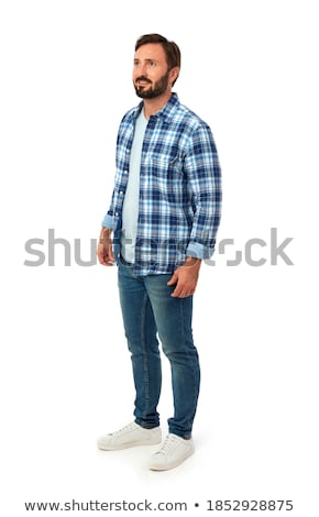 relaxed casual man looks to side stock photo © feedough