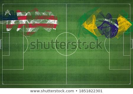 Brasil Libéria bandeiras quebra-cabeça isolado branco Foto stock © Istanbul2009