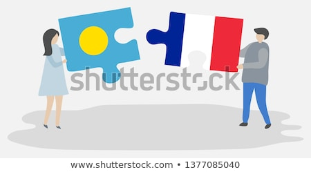 France and Palau Flags in puzzle  Stock photo © Istanbul2009