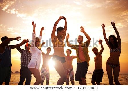 african dance at sunset stock photo © adrenalina