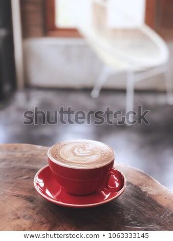 Bella rosso Cup caffè vintage stock Foto d'archivio © nalinratphi