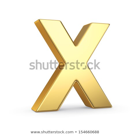The letter X as a polished golden object with clipping path Stock photo © creisinger
