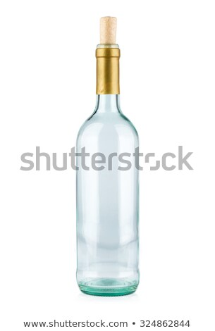 Glass with a cork on a white background Stock photo © Zerbor