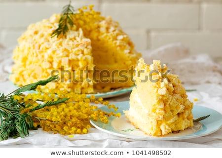 Mimosa Cake For Womens Day Stok fotoğraf © zoryanchik