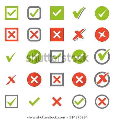 verificar · aprovado · símbolos · grunge · estilo · verde - foto stock © timurock