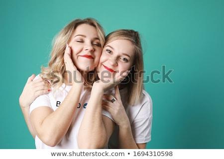 deux · moto · belle · rouge · heureux - photo stock © ssuaphoto