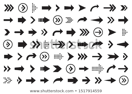 Arrow Up Left flat black color rounded vector icon Stock photo © ahasoft