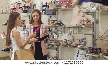 赤 ハイヒール ボックス ファッション 靴 現代 ストックフォト © goir
