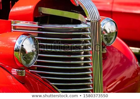 Oude auto licht auto auto lichten Stockfoto © goce