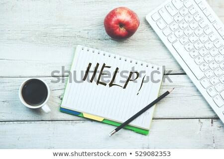 kérdez · segítség · tanács · emlékeztető · kézírás · izolált - stock fotó © fuzzbones0
