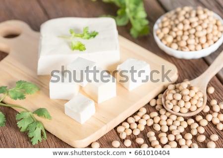 Fatias orgânico tofu caseiro prato comida Foto stock © Digifoodstock