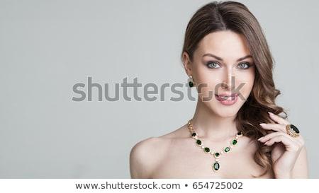 красивой · невеста · подвенечное · платье · Открытый · портрет · брюнетка - Сток-фото © victoria_andreas