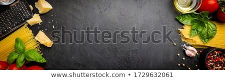 Nyers makaróni sajt illusztráció étel háttér Stock fotó © bluering