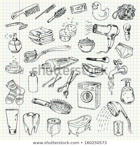 kam · schets · icon · vector · geïsoleerd - stockfoto © rastudio