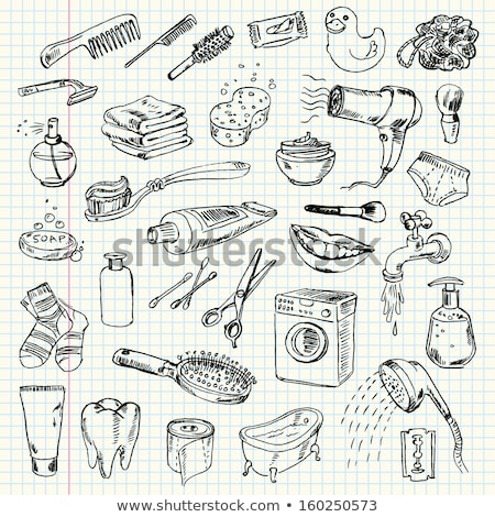 Pente esboço ícone vetor isolado Foto stock © RAStudio