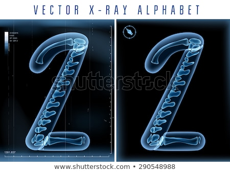 Transparent x-ray number 2 TWO. 3D Stock photo © djmilic