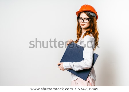 шлема увидела молота белый девушки Сток-фото © vlad_star