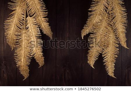 masquerade decorations on dark wooden background stock photo © neirfy