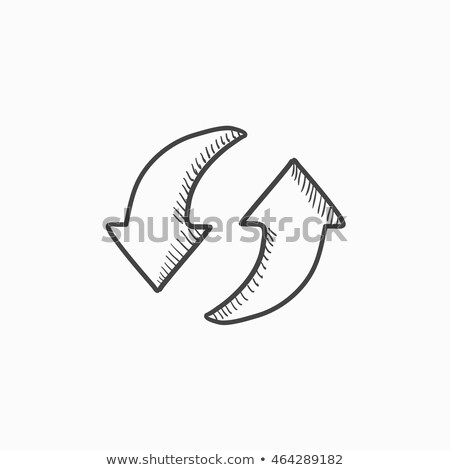 two circular arrows sketch icon stock photo © rastudio