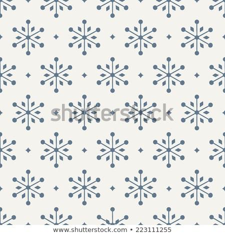 hópelyhek · végtelen · minta · vektor · fehér · ünnep · tél - stock fotó © robuart