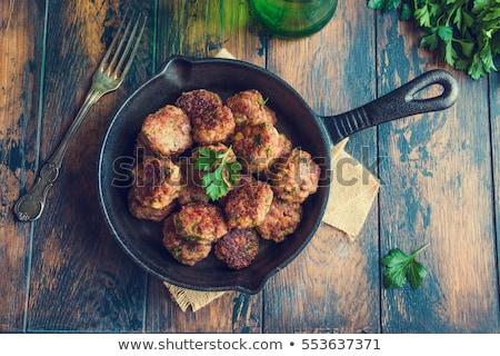 small pan fried meat balls Stock photo © Digifoodstock