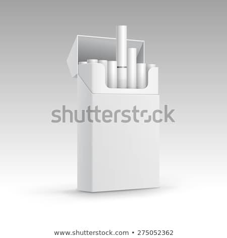 Opakowanie papierosów realistyczny odizolowany biały Zdjęcia stock © Mediaseller