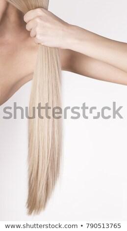 scandinavian girl with long blond hair Stock photo © konradbak
