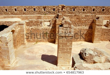 wall and column in Firka fortress Stock photo © ssuaphoto