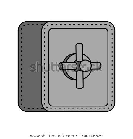 Safe isolated. strongbox cartoon style. large iron armored box f Stock photo © popaukropa