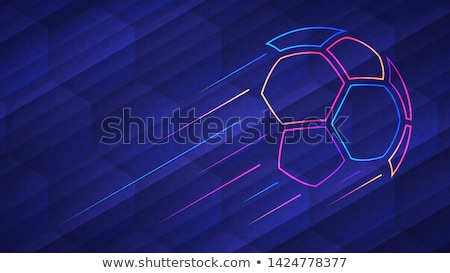 soccer game background with football and light effect Stock photo © SArts