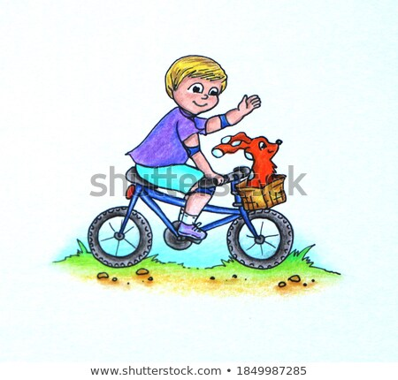 Young boy carrying friend in countryside Stock photo © IS2